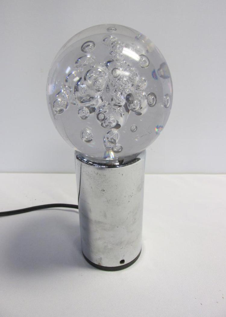 ACRYLIC BUBBLE SPHERE TABLE LAMP