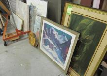 GROUPING OF MID-CENTURY ART PIECES