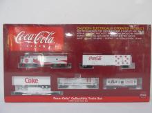 COCA COLA BRAND HO SCALE TRAIN SET
