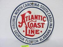 ATLANTIC COAST LINE TIN SIGN