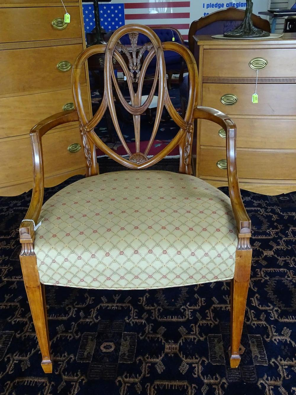 """""""PRINCES PATTERN"""" ARM CHAIR AFTER RICHARD GILLOW"""