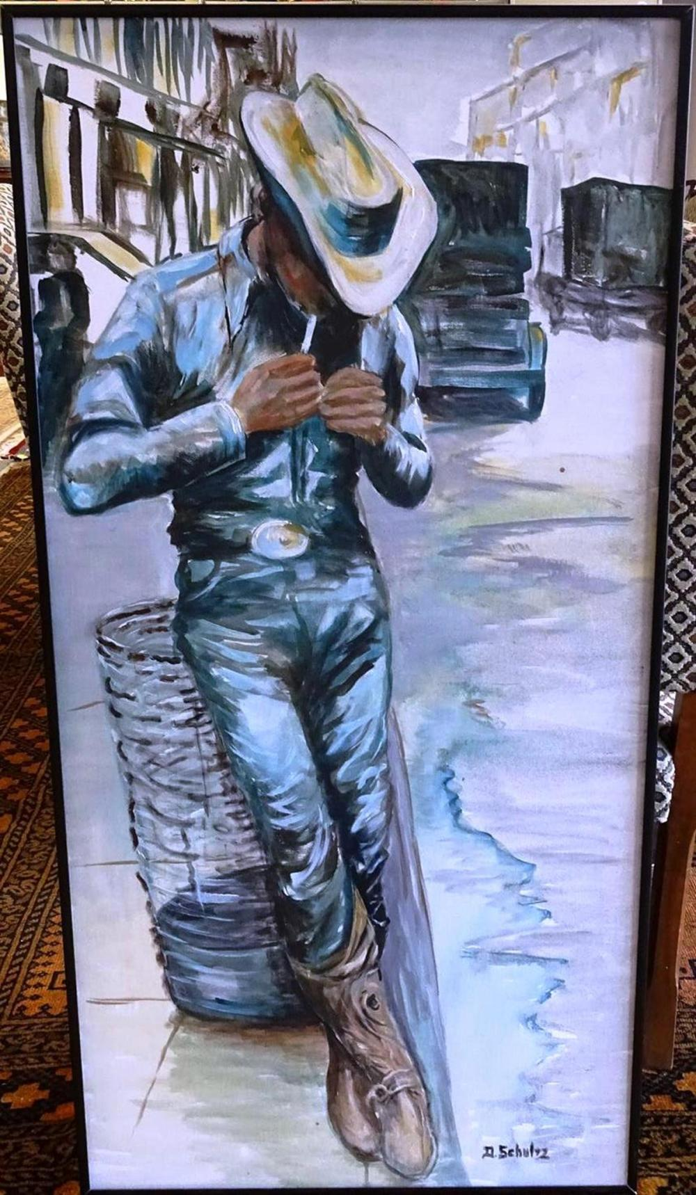 DOROTHY SCHULTZ PAINTING OF COWBOY