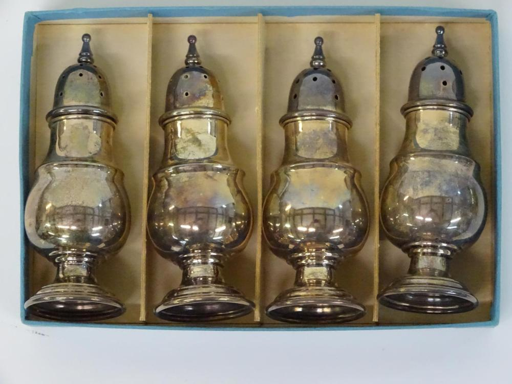 4 STERLING SILVER SHAKERS