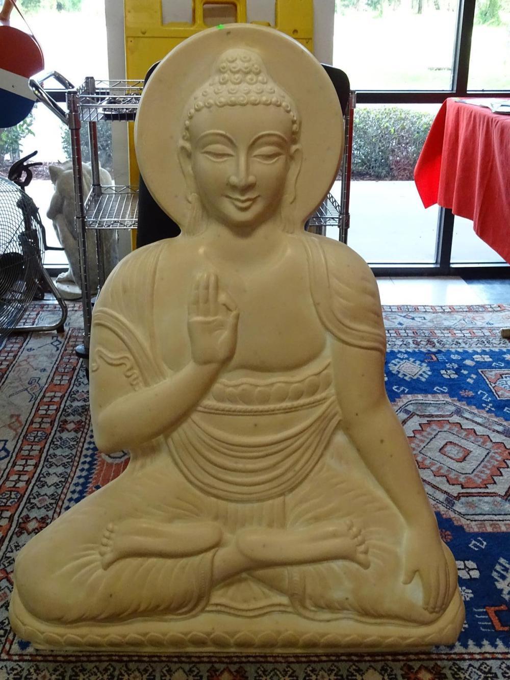THAI SEATED BUDDHA WALL SCULPTURE