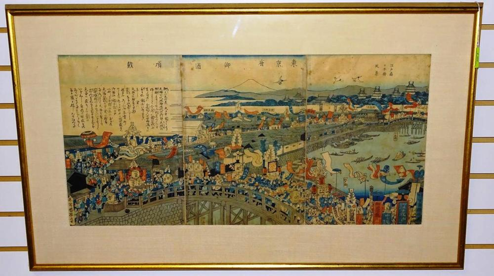 JAPANESE WOOD BLOCK TRYPTYCH