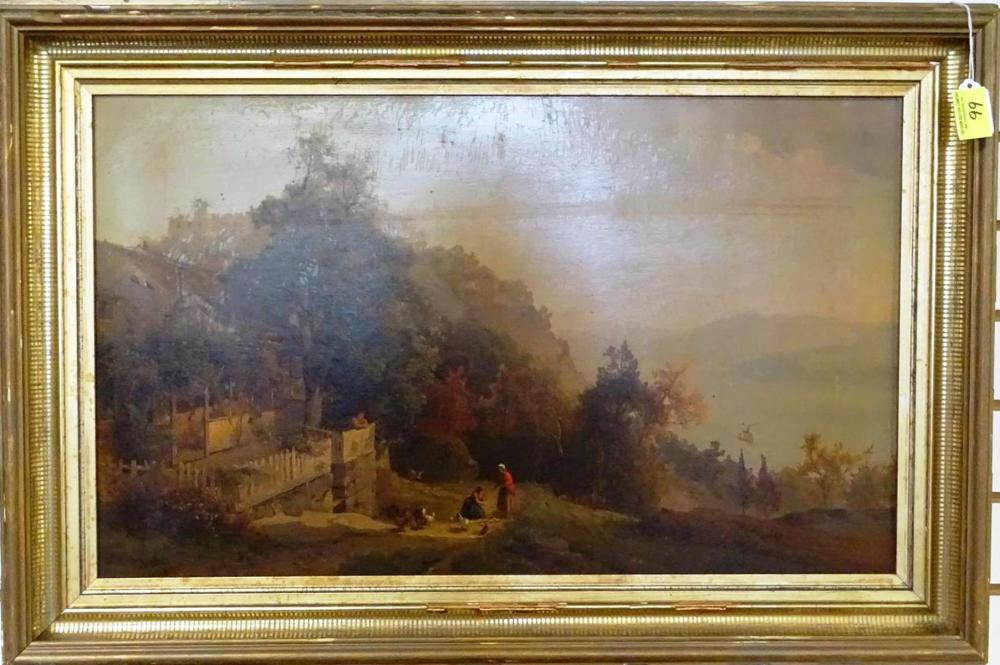 """""""VIEW OF THE HUDSON - WEST POINT"""" AFTER H. FUECHEL"""