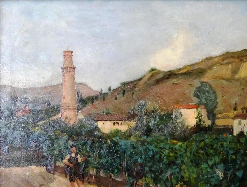 UNSIGNED OIL ON CANVAS LANDSCAPE PAINTING