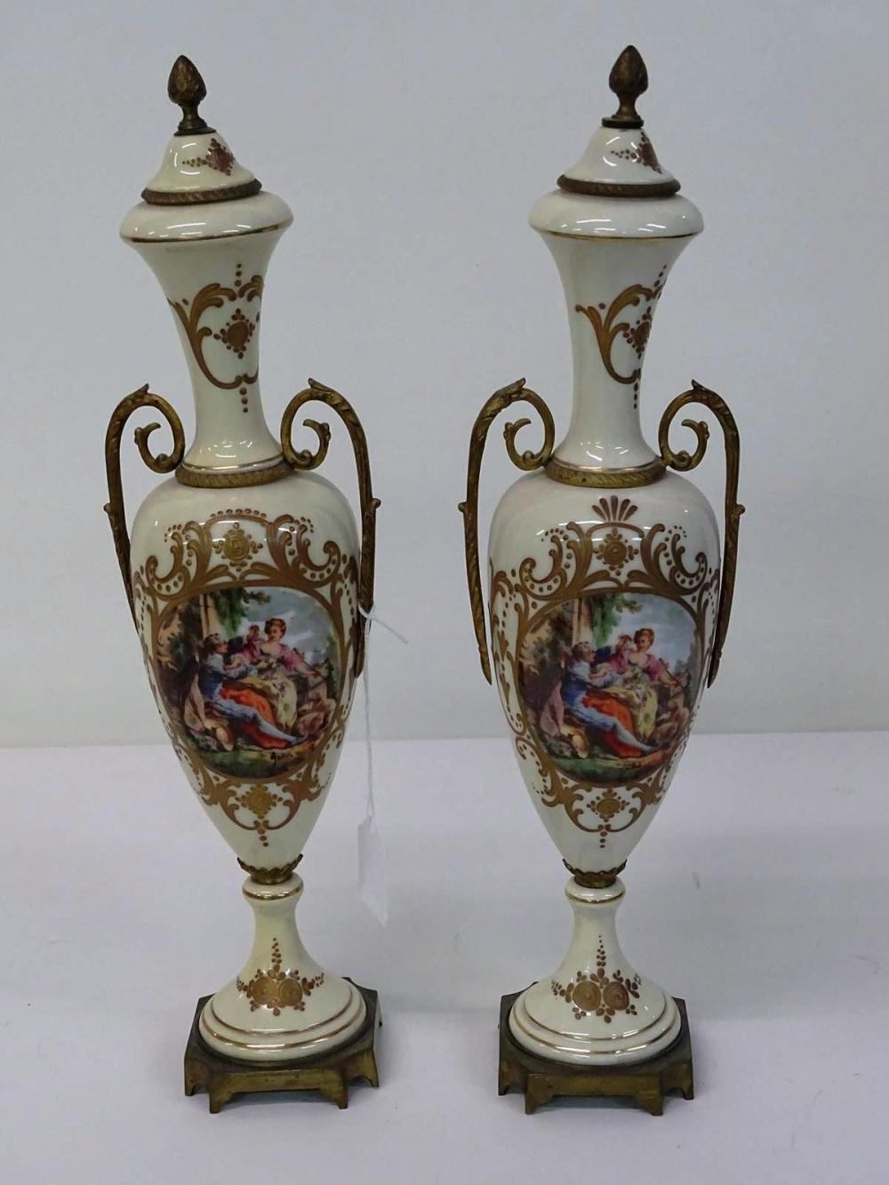 PAIR OF FRENCH ORMOLU VASES