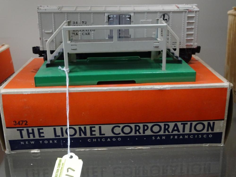 LIONEL TRAINS #3472 OPERATING MILK CAR