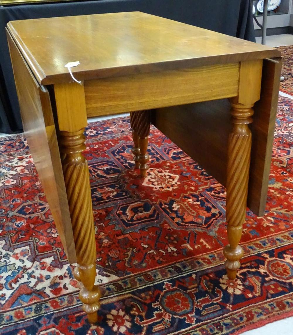 ANTIQUE FEDERAL DROP SIDE TABLE