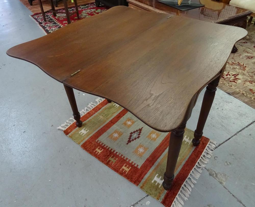 ANTIQUE MAHOGANY GAME TABLE