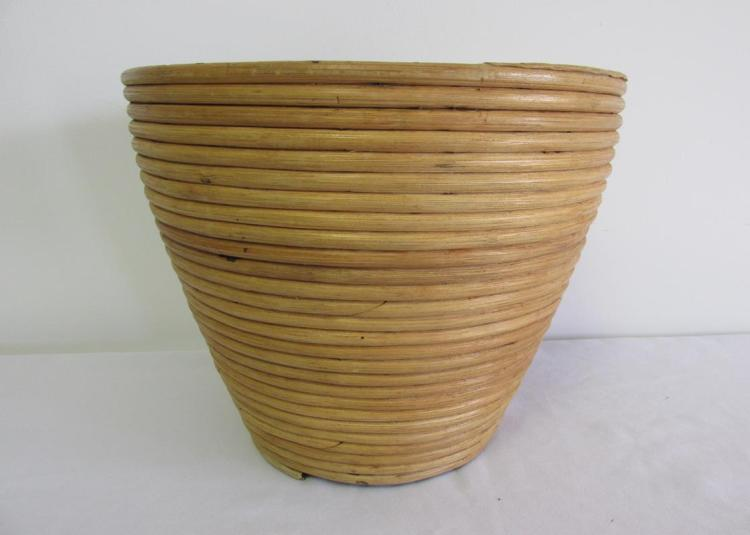 Crespi style rattan waste basket - Rattan waste basket ...