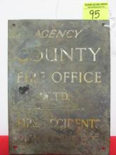 COUNTY FIRE AGENCY WALL PLATE