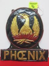 1800'S BRITISH PHOENIX FIRE MARK, COPPER