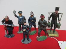 COLLECTION OF METAL TOY FIREMEN