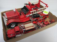 LOT OF FIRE ENGINE TOYS