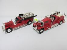 2 ERTL TOY FIRE TRUCKS