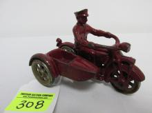 HUBLEY FIRE CYCLE RIDER AND SIDECAR