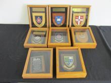 8 SHADOWBOX AWARD PLAQUES