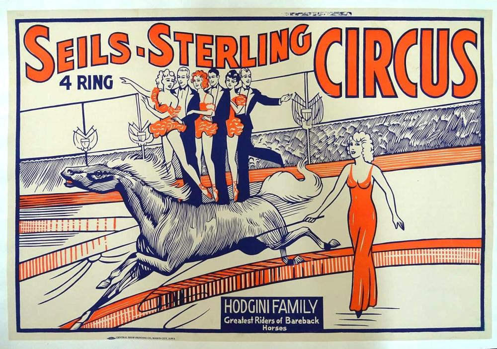SEILS-STERLING 4-RING CIRCUS POSTER