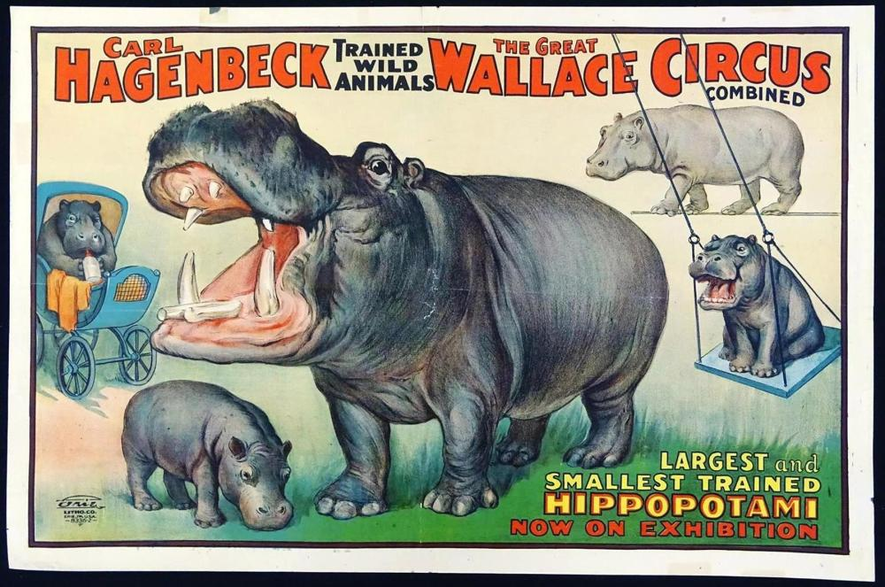 CARL HAGENBECK - THE GREAT WALLACE CIRCUS POSTER