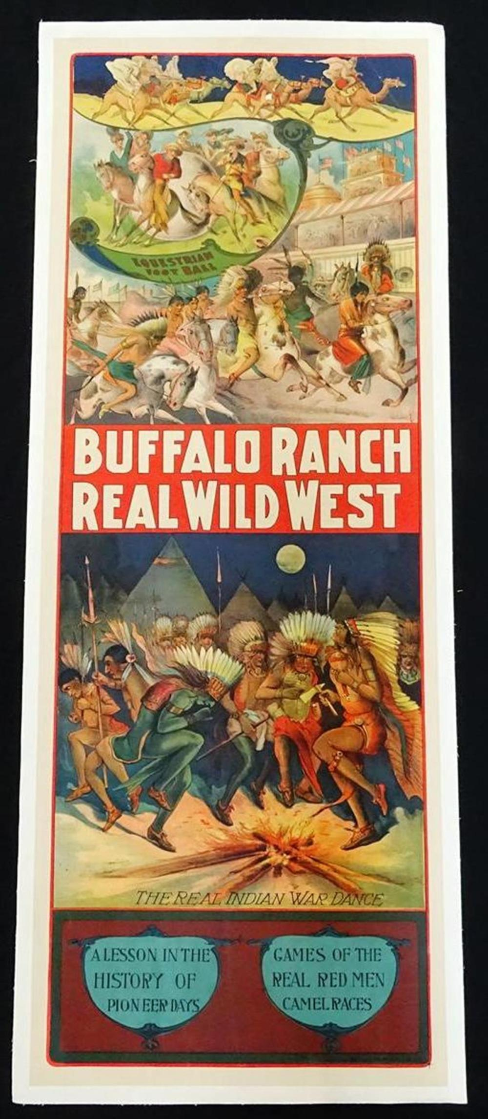 BUFFALO RANCH REAL WILD WEST POSTER