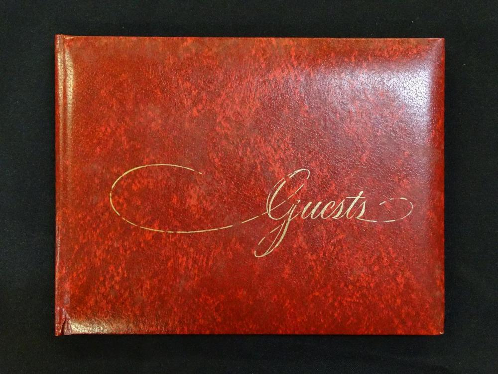 MERLE EVANS SIGNED GUEST BOOK