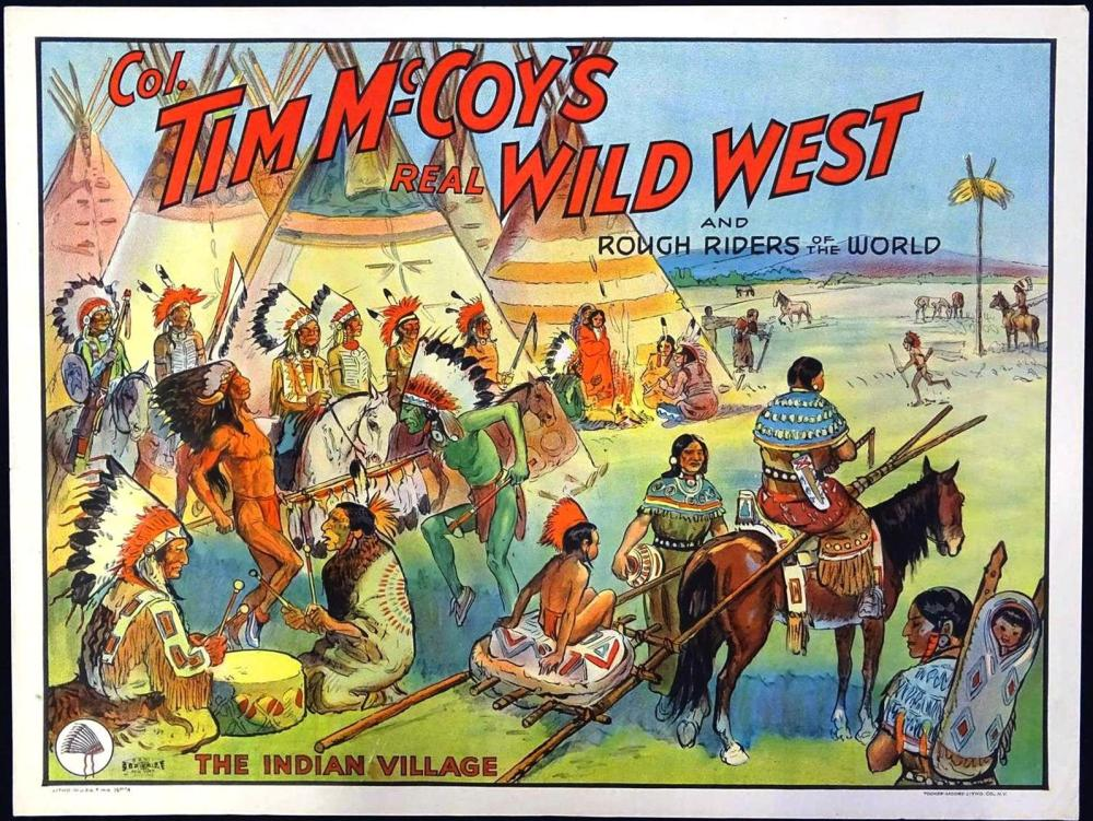 COL. TIM MCCOY'S REAL WILD WEST POSTER