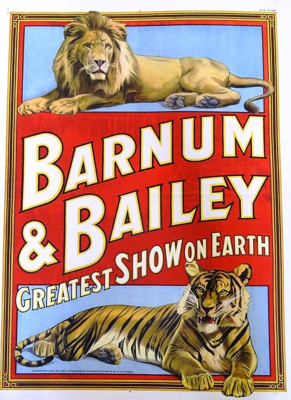 BARNUM & BAILEY GREATEST SHOW ON EARTH POSTER