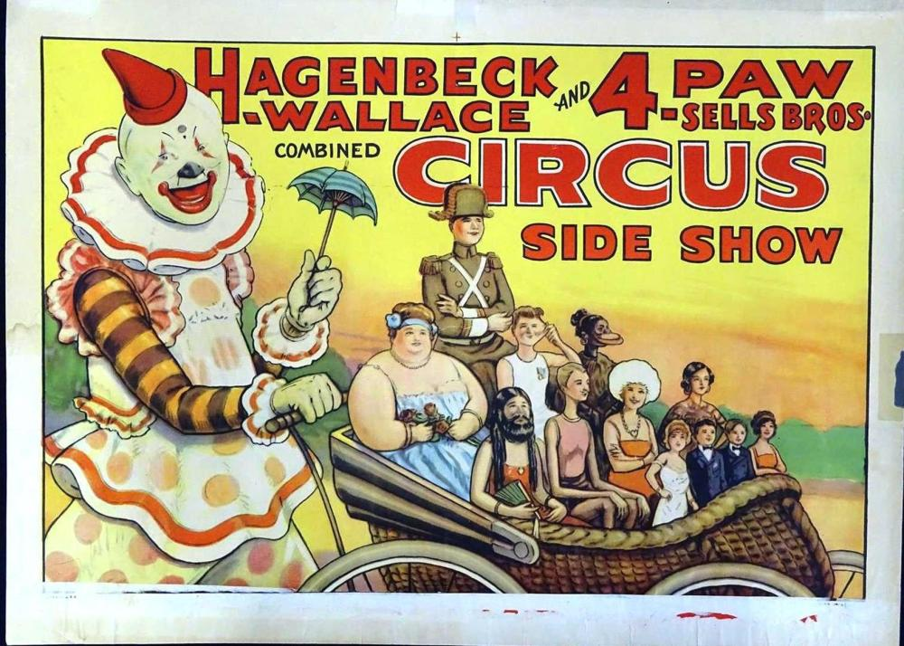 HAGENBECK-WALLACE AND 4-PAW-SELLS BROS. POSTER
