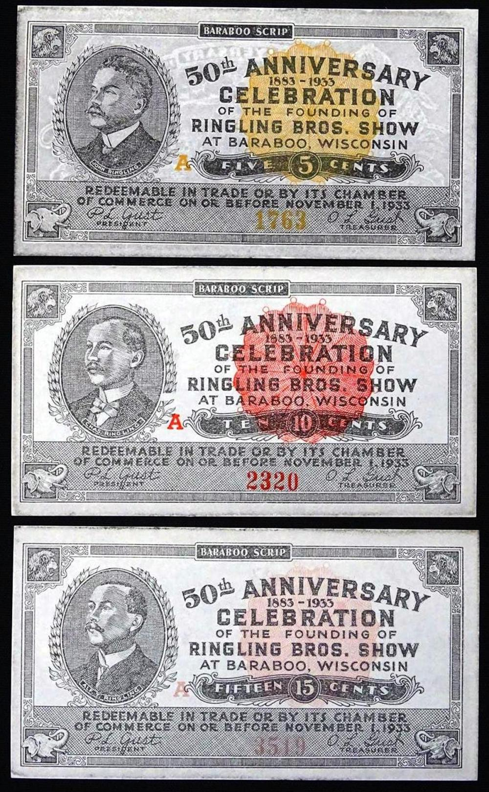 RINGLING BROTHERS SHOW 50TH ANNIV. SCRIP