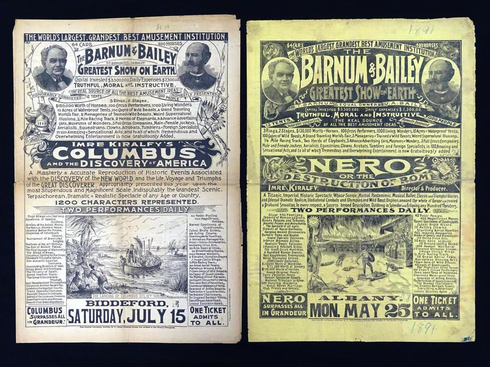 BARNUM & BAILEY NEWSPAPER COURIERS