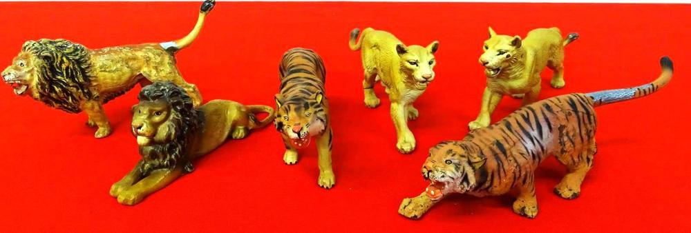 6 LION-TIGER CAGE MODEL FIGURES