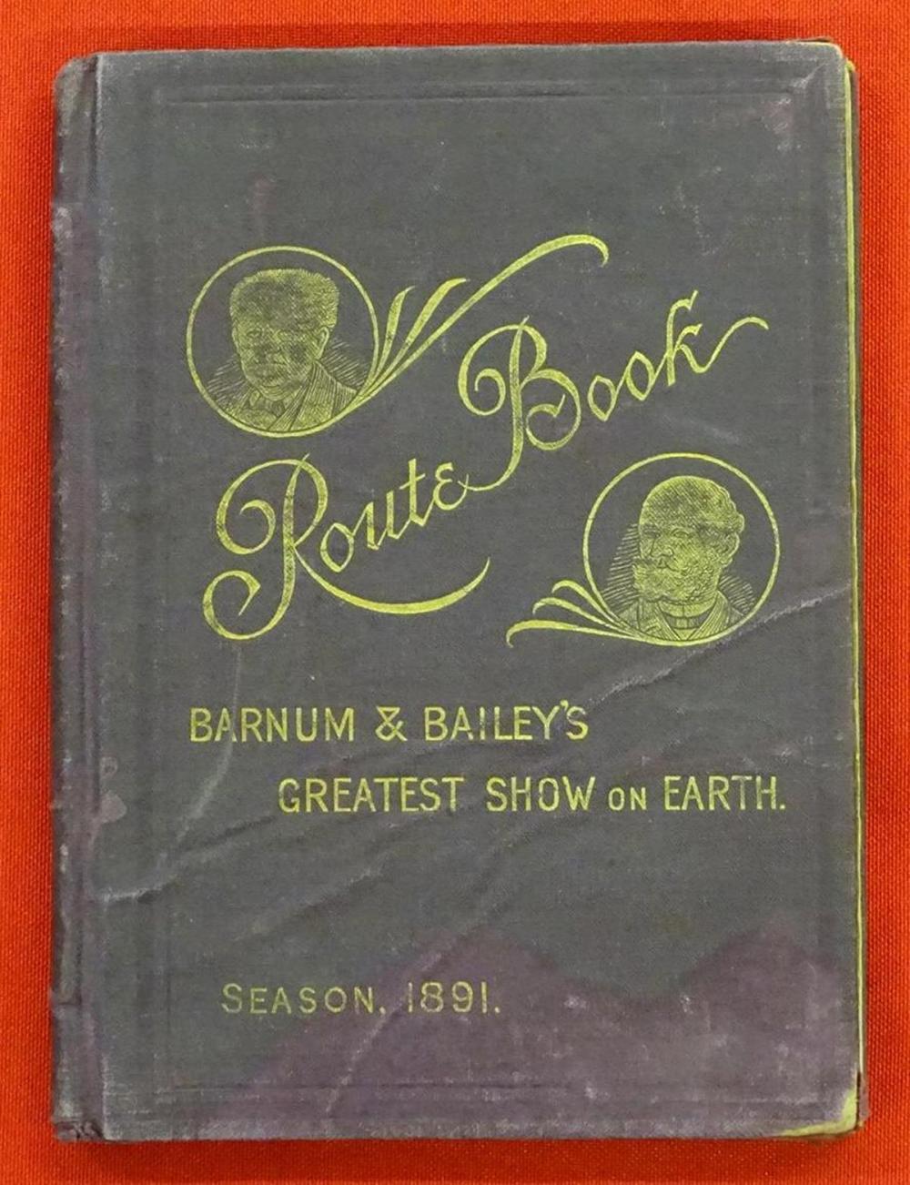 BARNUM & BAILEY'S CIRCUS ROUTE BOOK - 1891