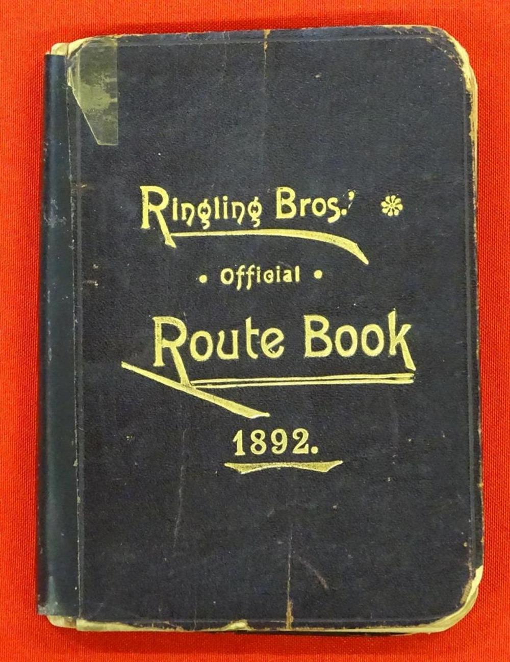 RINGLING BROS. CIRCUS ROUTE BOOK - 1892