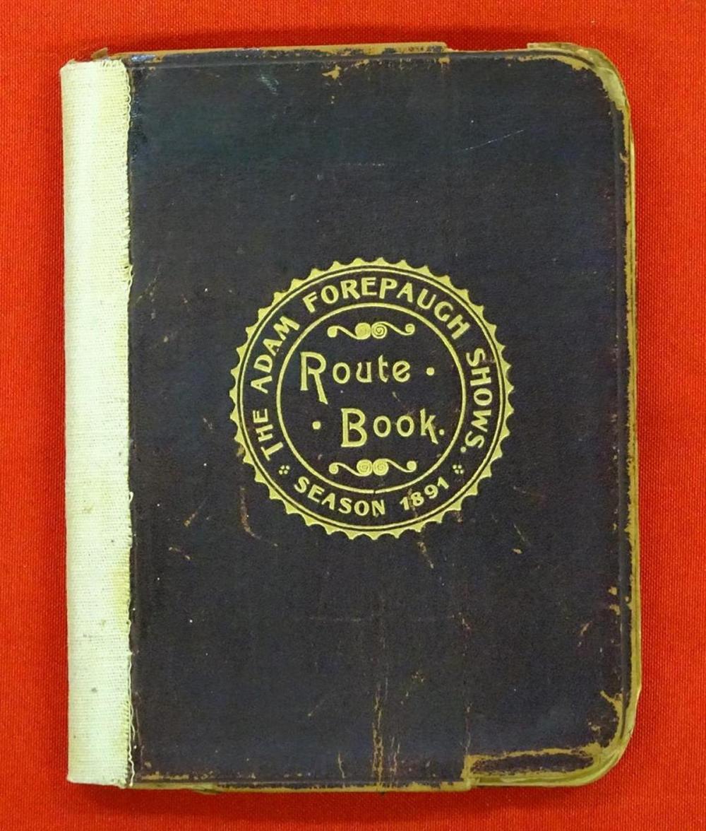 ADAM FOREPAUGH SHOWS ROUTE BOOK - 1891
