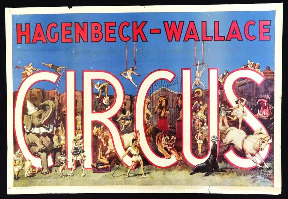 HAGENBECK-WALLACE CIRCUS POSTER