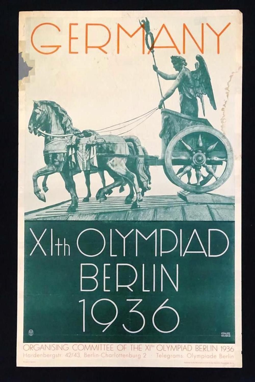 1936 GERMANY XI OLYMPIAD POSTER