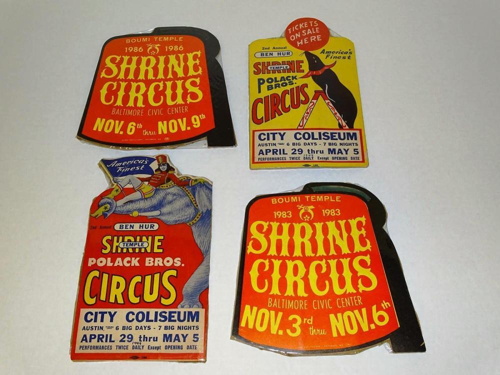 SHRINE CIRCUS COUNTER CARDS