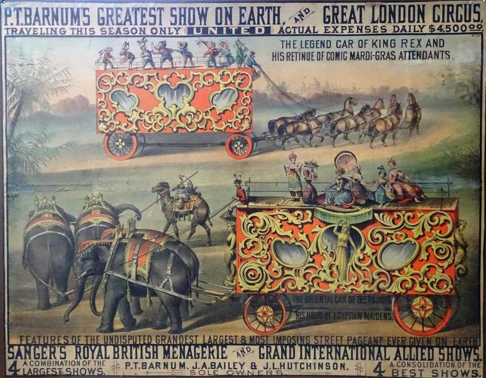 P.T. BARNUM'S GREATEST SHOW ON EARTH POSTER