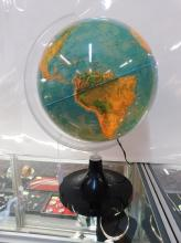 NOVA RICO - ITALY, ILLUMINATED LUCITE WORLD GLOBE