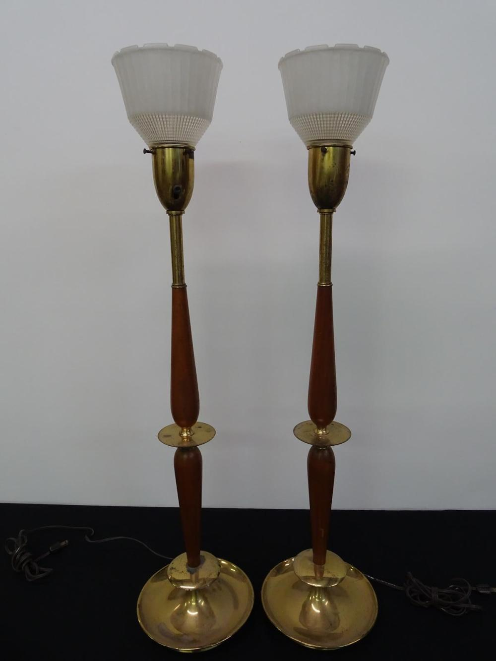 PAIR OF REMBRANDT TABLE TORCHERE LAMPS