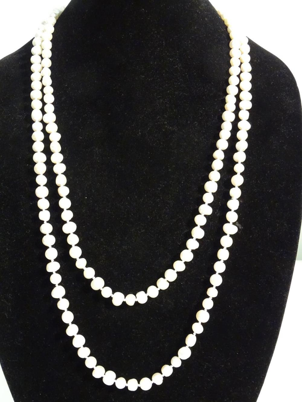 FRESHWATER RINGED PEARL NECKLACE
