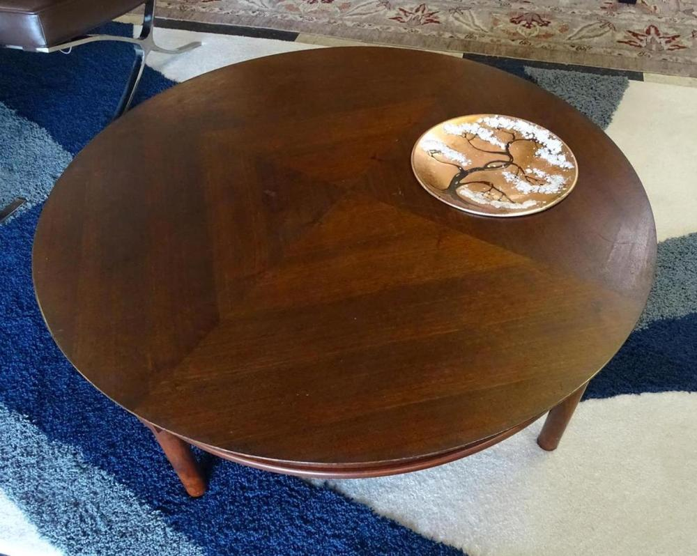 JOHN KEAL FOR BROWN SALTMAN REVOLVING COFFEE TABLE