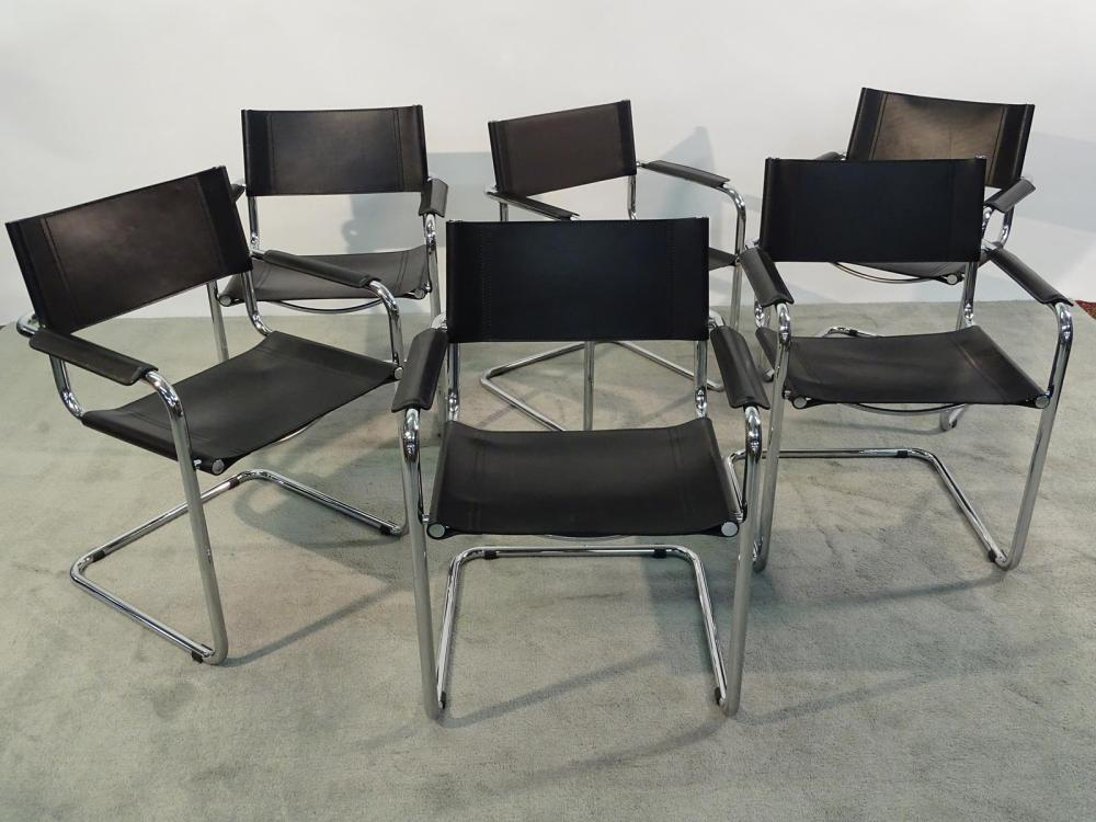MART STAM STYLE CANTILEVER DINING CHAIRS