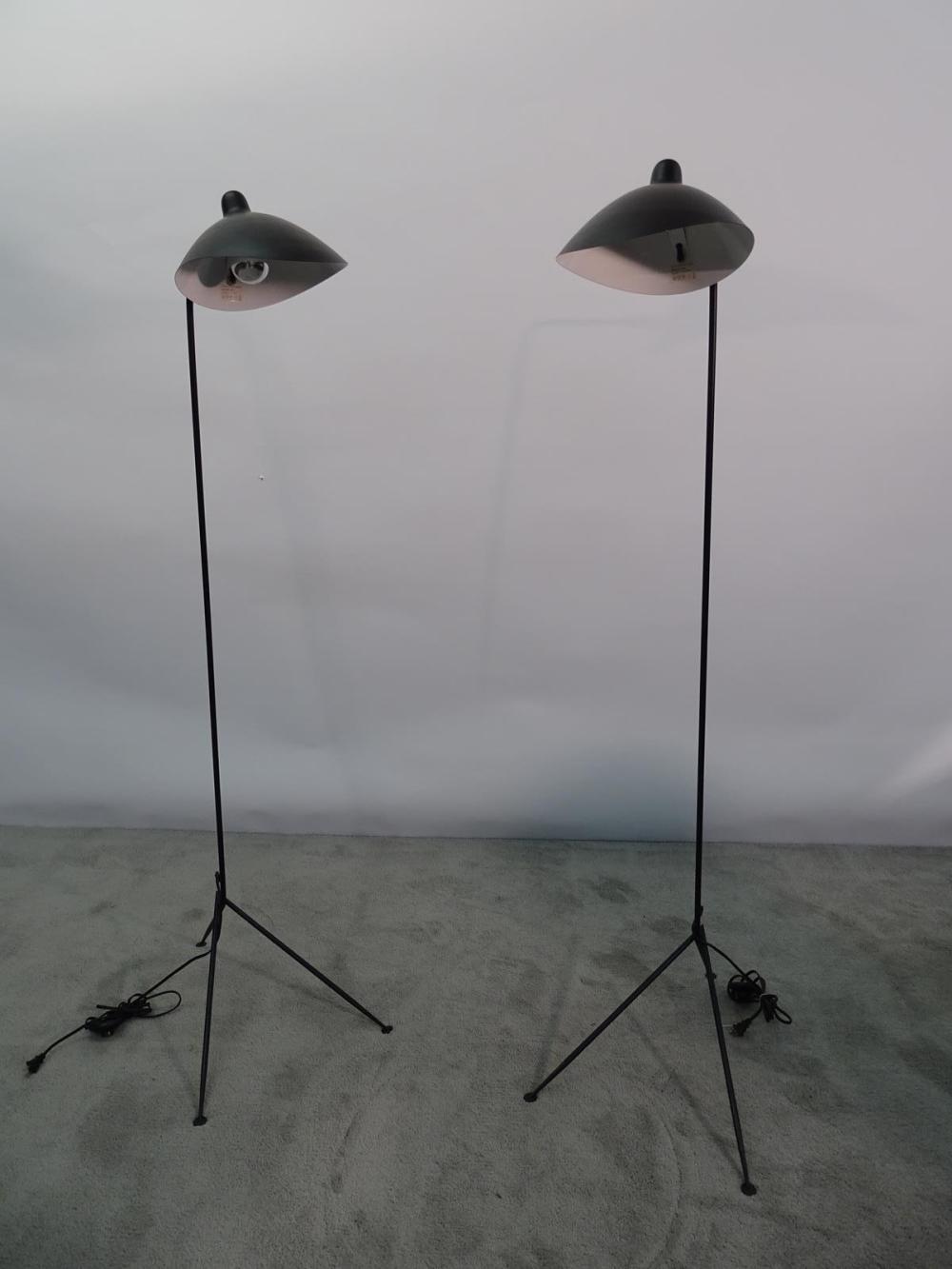 PAIR SERGE MOUILLE (ATTR.) FLOOR LAMPS