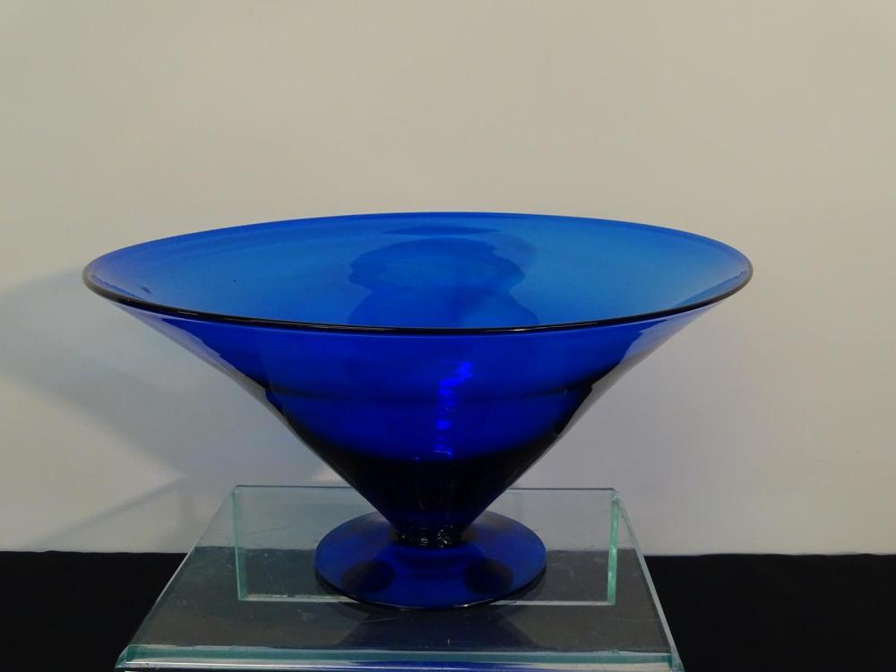 BLENKO BLUE CONSOLE BOWL