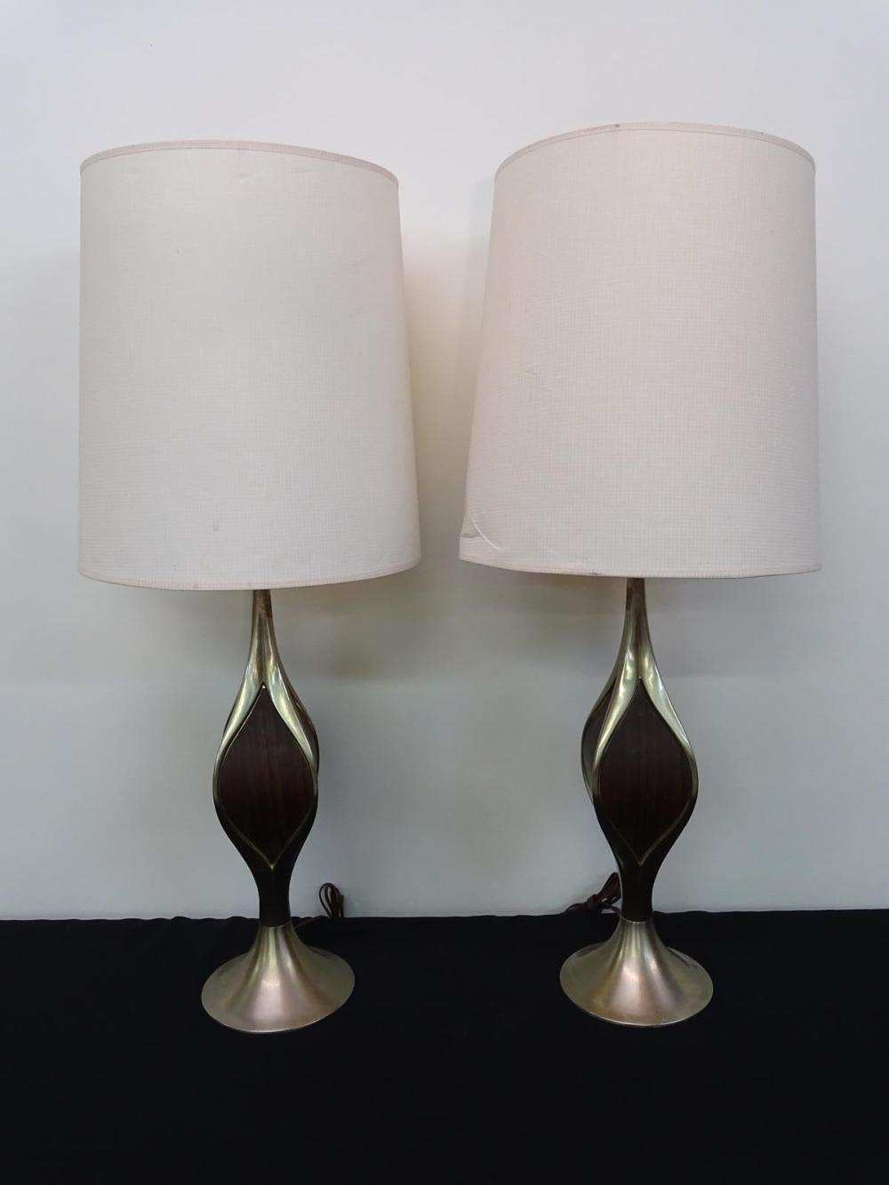PAIR LAUREL TABLE LAMPS