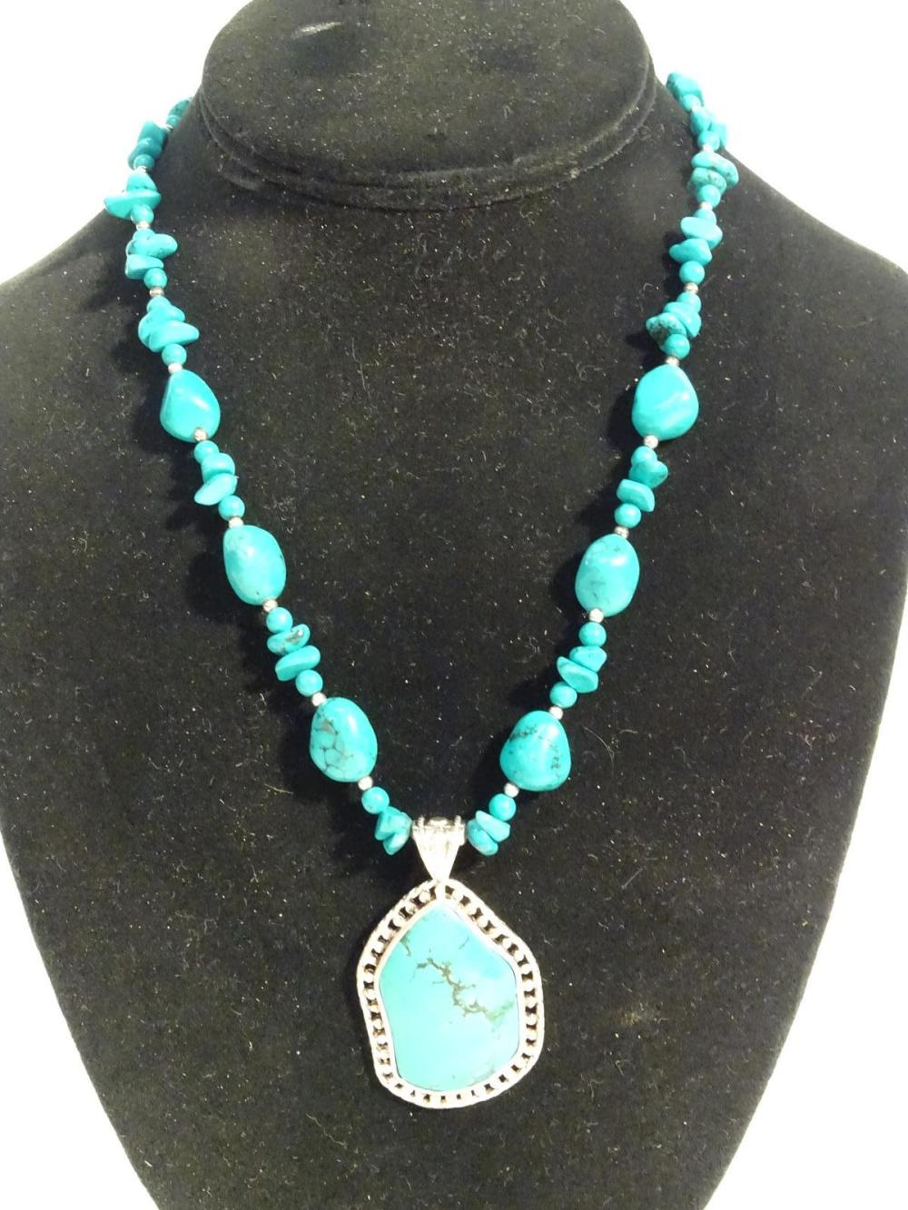 TURQUOISE/STERLING SILVER NECKLACE