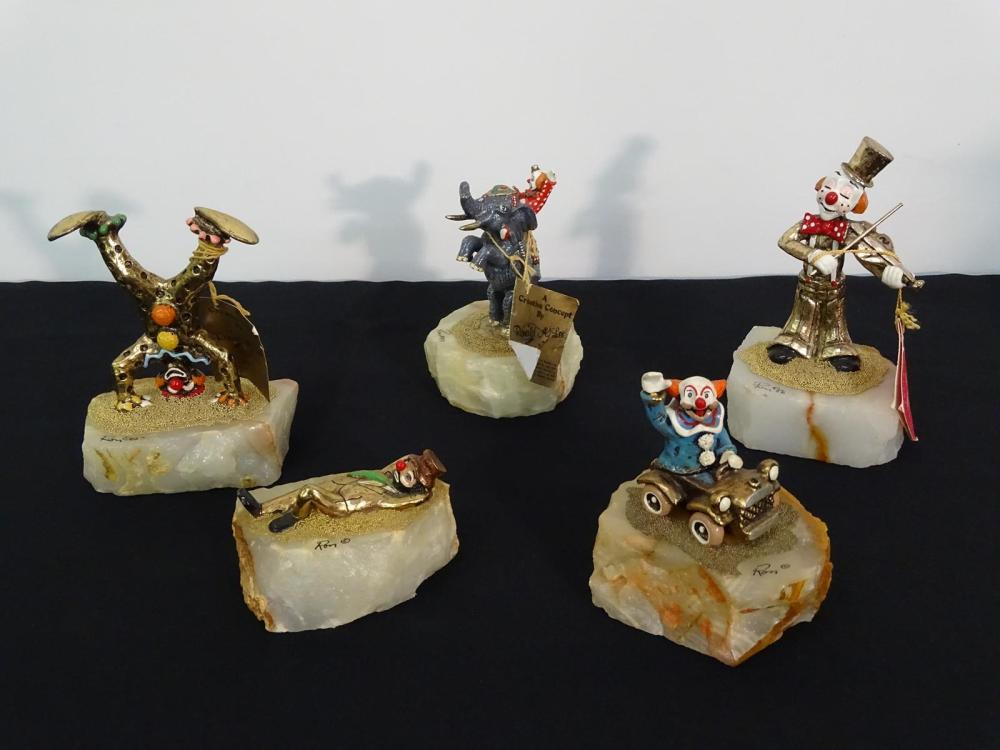 GROUPING OF RONALD LEE CLOWN FIGURES